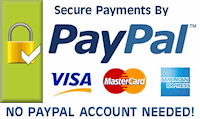 Secure Payments by PayPal. No Accounts Needed!